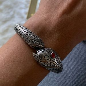 Snake cuff with red eye